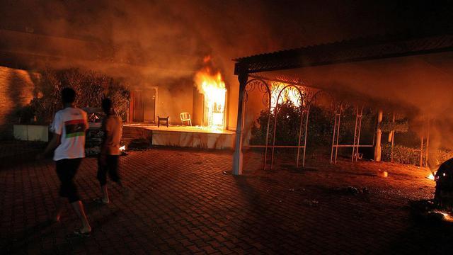 Attaque contre le consulat américain à Benghazi, le 11 septembre 2012 [Str / AFP/Archives]