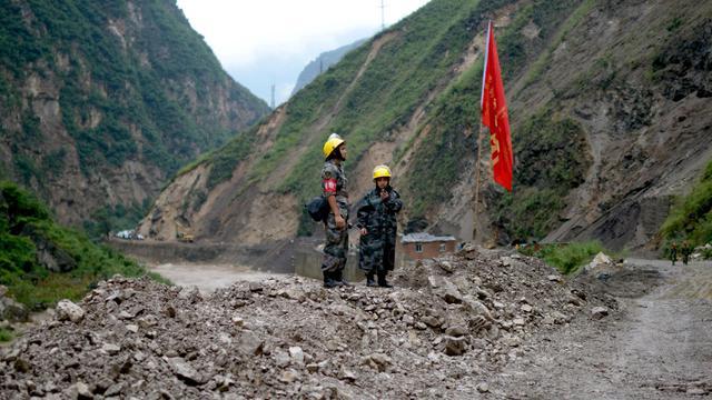 Glissement de terrain le 12 septembre 2012 dans la province du Yunnan [ / AFP/Archives]