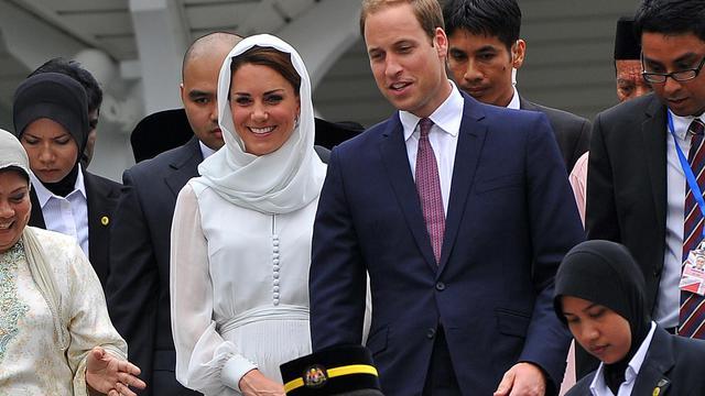 Kate et William le 14 septembre 2012 à Kuala Lumpur [ / AFP]