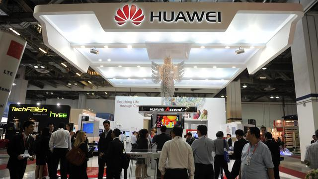 Stand Huawei au salon CommunicAsia, le 19 juin 2012 à Singapour [Roslan Rahman / AFP/Archives]