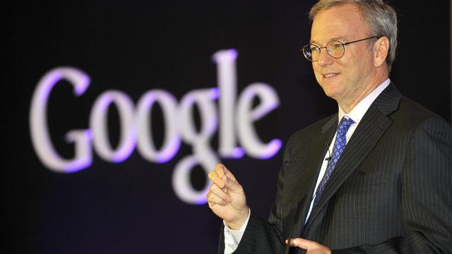 Le président exécutif de Google, Eric Schmidt, le 27 septembre 2012 à Séoul [Jung Yeon-Je / AFP]