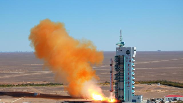 Lancement d'un satellite depuis le désert de Gobi, ,dans le nord-ouest de la Chine, le 29 septembre 2012 [ / AFP/Archives]