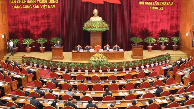 Photo diffusée par la Vietnam News Agency du plenum du parti communiste vietnamien, le 1er octobre 2012 à Hanoï [ / Vietnam News Agency/AFP]