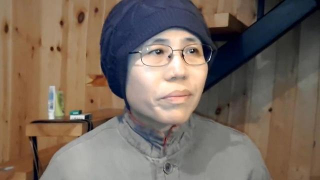 Capture d'écran d'une vidéo montrant Liu Xia, l'épouse de Liu Xiaobo, à Pékin le 28 décembre 2012 [ / Hu Jia/AFP/Archives]