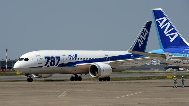 Un Boeing 787 de la compagnie japonaise ANA sur le tarmac de l'aéroport de Tokyo, le 30 avril 2013 [Toshifumi Kitamura / AFP/Archives]