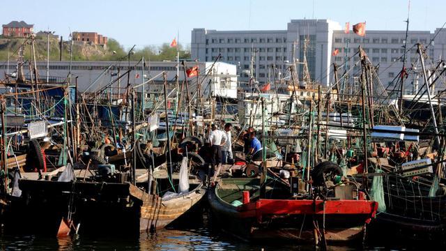 Le port de pêche de Dalian, au nord-est de la province de Lianong, le 20 mai 2013, d'où sont originaires les bateaux capturés par des Nord-Coréens [AFP / AFP]