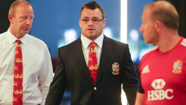 Cian Healey, le pilier irlandais des Lions, avant son audition par une commission de discipline le 7 juin 2013 à Brisbane [Patrick Hamilton / AFP]