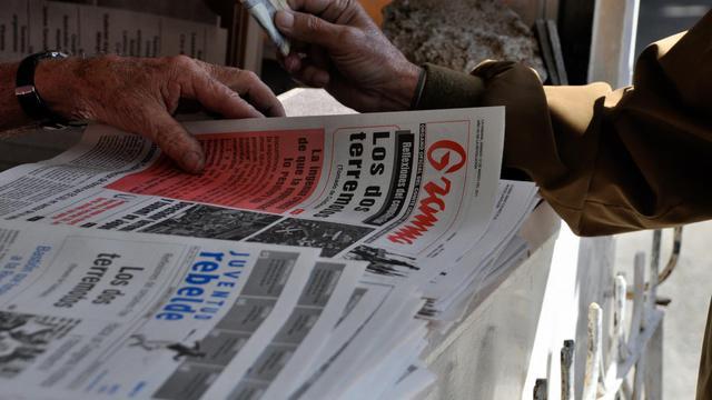 Des journaux cubains, vendus dans un kiosque à La Havane [ / AFP/Archives]