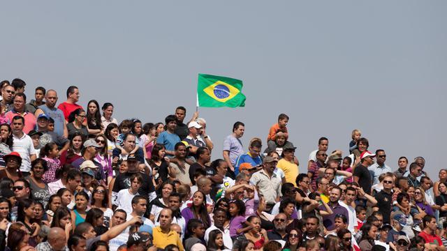 Des Brésiliens lors de la Fête de l'Indépendance, à Sao Paulo le 7 septembre 2011 [Yasuyoshi Chiba / AFP/Archives]