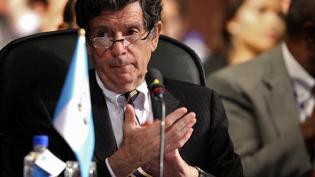 L'ambassadeur du Guatemala Gert Rosenthal, le 4 juin 2007 à Panama City [Yuri Cortez / AFP/Archives]