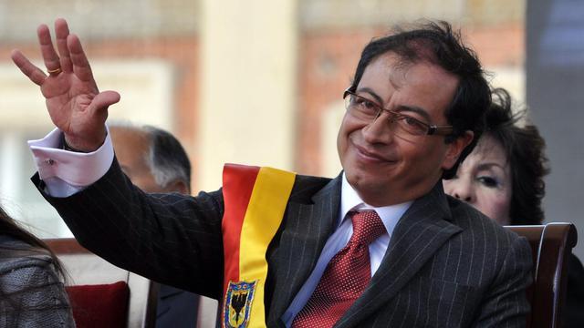 Le maire de Bogota, Gustavo Petro, le 1er janvier 2013 [Guillermo Legaria / AFP/Archives]