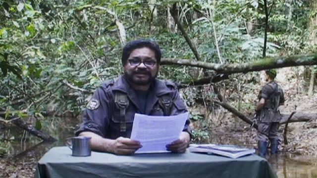 Capture d'écran d'une vidéo du 25 janvier 2012 montrant Ivan Marquez, un des chefs des Farc [- / www.farc-ep.co/AFP/Archives]