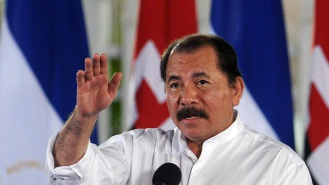 Le président nicaraguayen Daniel Ortega le 8 mars 2012 à Managua [Elmer Martinez / AFP/Archives]
