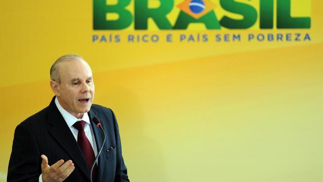 Le ministre brésilien des Finances Guido Mantega, le 27 juin 2012 à Brasilia [Evaristo Sa / AFP/Archives]