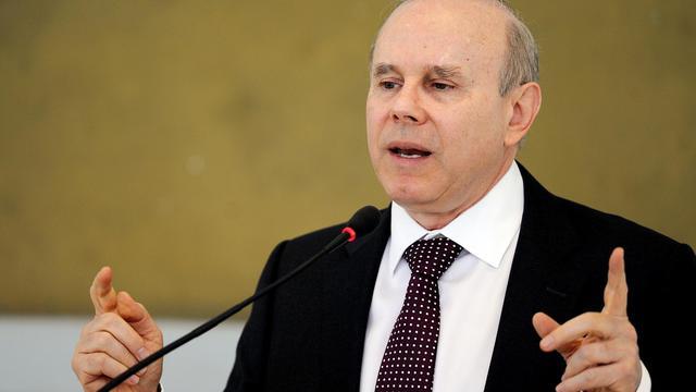 Le ministre brésilien des Finances, Guido Mantega, le 30 août 2012 à Brasilia [Evaristo Sa / AFP/Archives]