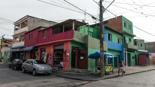 Vue d'un quartier de Uniao de Vila Nova en date du 1er septembre 2012 [Yasuyoshi Chiba / AFP]