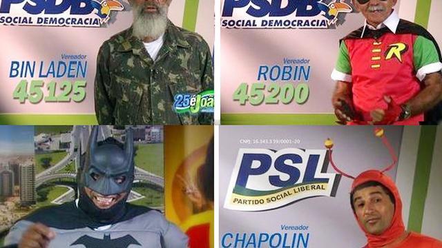 Montage d'affiches électorales pour l'élection municipale d'Aracaju, dans le nord-est du Brésil, le 5 septembre 2012 [ / Captures d'écran/AFP]