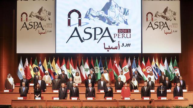 Les dirigeants du sommet Amérique du sud-Pays arabes, le 2 octobre 2012 à Lima [Ernesto Benavides / AFP]