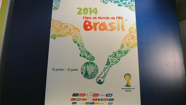 L'affiche officielle du Mondial-2014, présentée le 30 janvier 2013 à Rio de Janeiro [Vanderlei Almeida / AFP/Archives]