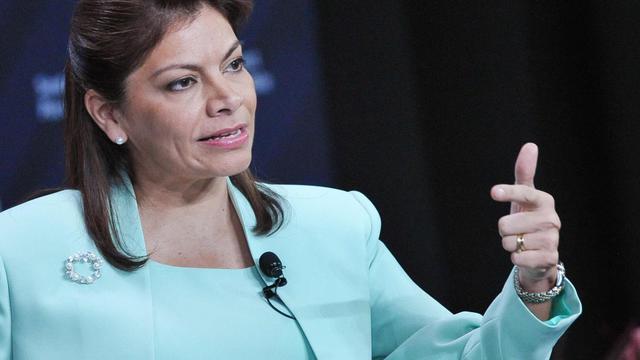 La présidente du Costa Rica Laura Chinchilla,,le 4 mai 2013 à San José [Mandel Ngan / AFP/Archives]