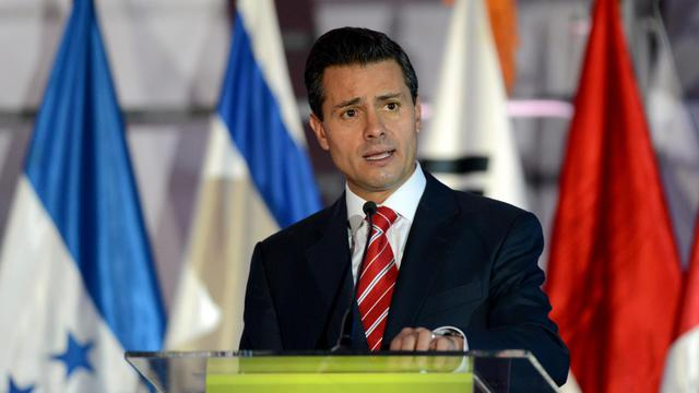 Le président mexicain Enrique Pena Nieto, le 31 mai 2013 à Guatemala City [Johan Ordonez / AFP/Archives]