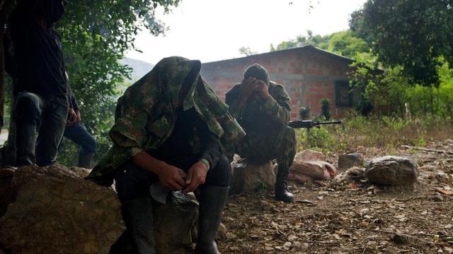 Des membres des Farc, le 4 juin 2013 à Caloto en Colombie [Luis Robayo / AFP/Archives]