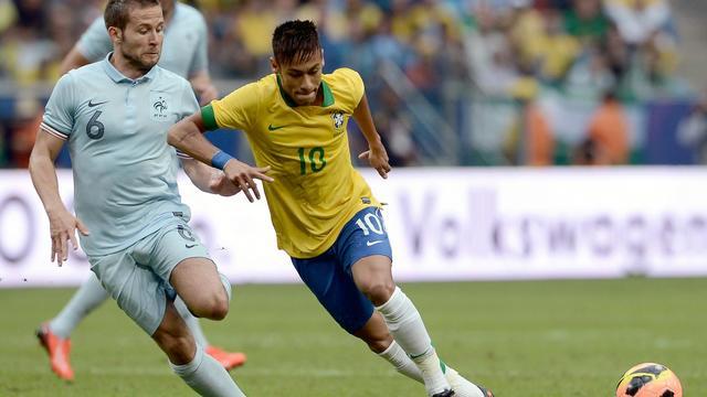 L'attaquant brésilien Neymar lors d'un match amical contre la France le 8 juin 2013 [Franck Fife / AFP]