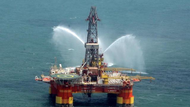 Une plateforme pétrolière iranienne, en mer Caspienne [ / Présidence iranienne/AFP/Archives]