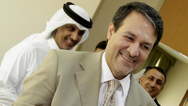 Le porte-parole du gouvernement irakien Ali Dabbagh, le 16 août 2009 à Doha [Karim Jaafar / AFP/Archives]