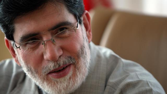 IAli Akbar Javanfekr, conseiller pour la presse du président Mahmoud Ahmadinejad et dirigeant de l'agence officielle Irna, le 15 septembre 2009 )Téhéran [Atta Kenare / AFP/Archives]