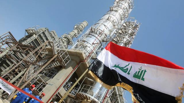 La raffinerie Al-Dora de Bagdad, le 16 septembre 2010 [Ahmad al-Rubaye / AFP/Archives]