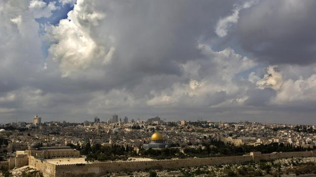 Vue générale de la vieille ville de Jérusalem [Ahmad Gharabli / AFP/Archives]