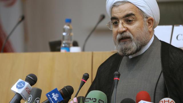 Le candidat à l'élection présidentielle Hassan Rohani, le 24 avril 2006 à Téhéran [Atta Kenare / AFP/Archives]