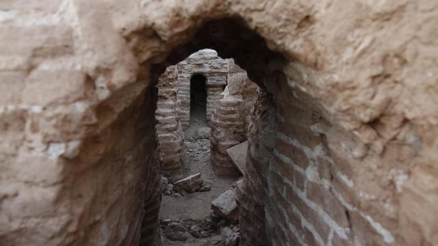 Une photo du 28 novembre 2010 montre les vestiges du monastère Saint-Hilarion, à Tell Oum al-Amr [Mohammed Abed / AFP/Archives]