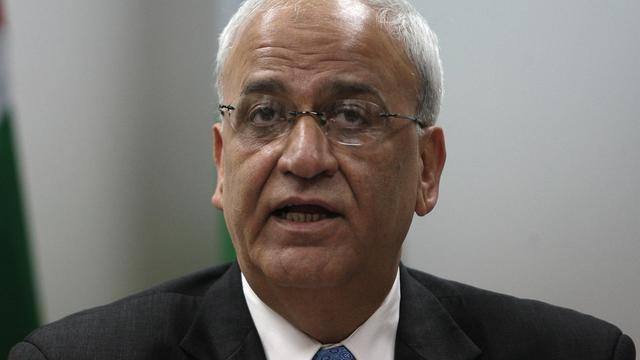 Le négociateur palestinien Saeb Erekat, le 2 janvier 2012 à Ramallah [Abbas Momani / AFP/Archives]