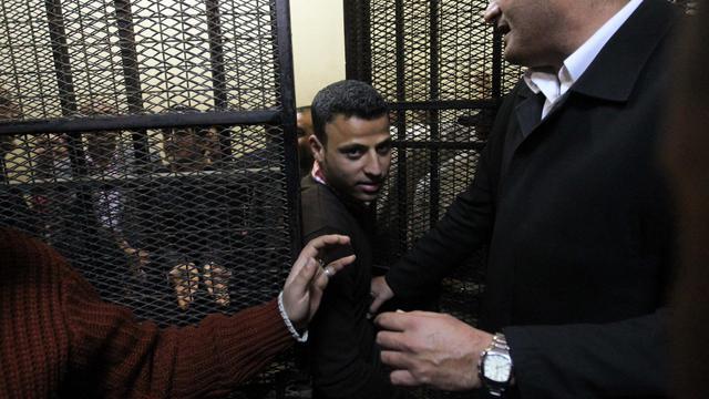 Un homme comparait le 8 mars 2012 devant un tribunal au Caire, accusé de recevoir des financements illicites pour une ONG [Khaled Desouki / AFP/Archives]