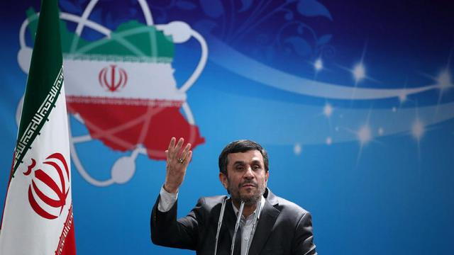 Photo diffusée par la présidence iranienne de Mahmoud Ahmadinejad le 8 avril 2012 à Téhéran [ / HO/ IRANIAN PRESIDENCY WEBSITE/AFP]