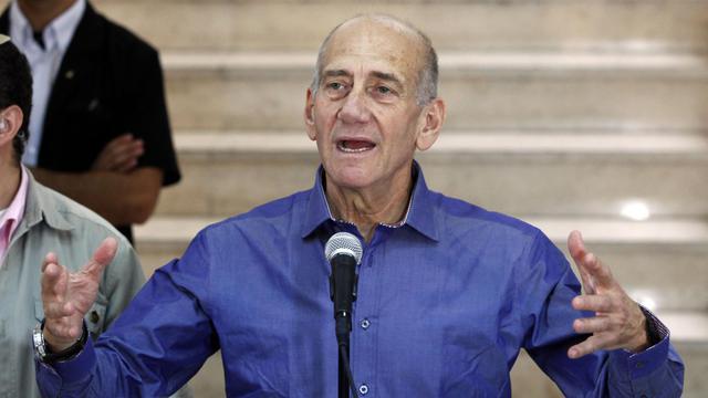 L'ex-Premier ministre israélien Ehud Olmert, le 10 juillet 2012 au tribunal de district de Jérusalem [Gali Tibbon / AFP/Archives]