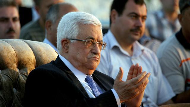 Le président de l'Autorité palestinienne Mahmoud Abbas lors d'une cérémonie le 28 juillet 2012 à Jénine [Saif Dahlah / AFP/Archives]