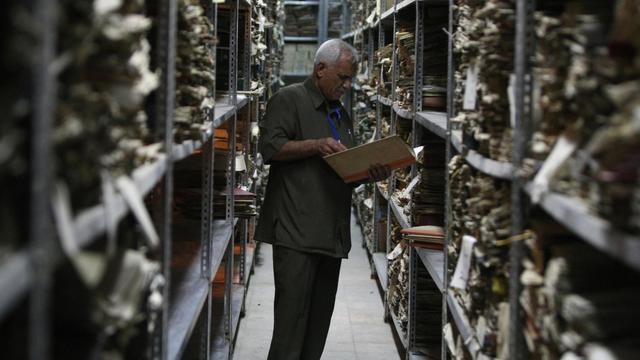 Aux Archives nationales irakiennes à Bagdad le 28 août 2012 [Ahmad al-Rubaye / AFP]