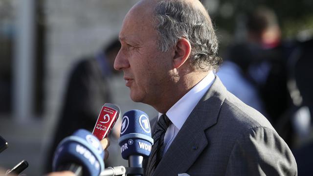 Le ministre des Affaires étrangères Laurent Fabius, le 7 septembre 2012 à Paphos (Chypre) [Yiannis Kourtoglou / AFP/Archives]