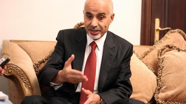 Le président du Parlement libyen, Mohammed al-Megaryef, lors d'une interview le 15 septembre 2012 à Benghazi [Abdullah Doma / AFP]