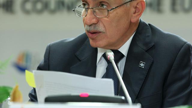 Le ministre chypriote des Finances, Vassos Shiarly, le 15 septembre 2012 à Nicosie [ / Présidence UE/AFP/Archives]