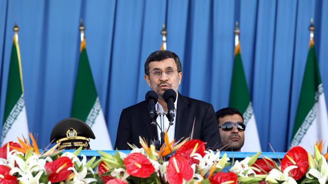 La président iranien Mahmoud Ahmadinejad le 21 septembre 2012 à Téhéran [Atta Kenare / AFP/Archives]