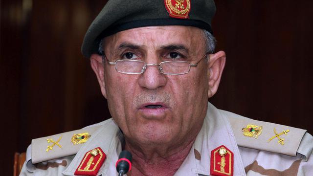 Le chef d'état-major libyen Youssef al-Mangouch, en octobre 2012 à Tripoli [ / AFP/Archives]