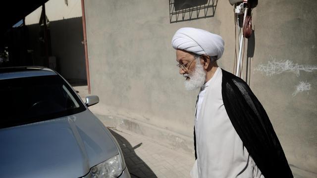 L'ayatollah chiite Issa Qassem le 9 novembre 2012 à Diraz, au Bahreïn [Mohammed al-Shaikh / AFP/Archives]