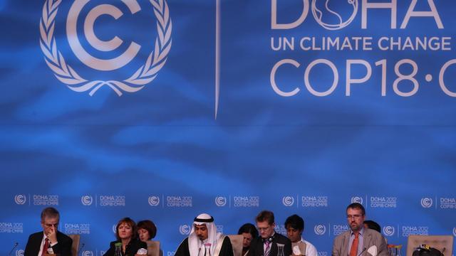 Des délégués des différents pays lors de la conférence sur le climat de Doha, le 7 décembre 2012 [Karim Jaafar / Al-Watan Doha/AFP/Archives]