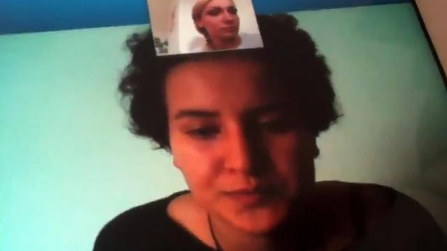 Capture d'écran d'une vidéo diffusée sur YouTube le 15 avril 2013 montrant la Femen tunisienne Amina Sboui [ / YouTube/AFP/Archives]