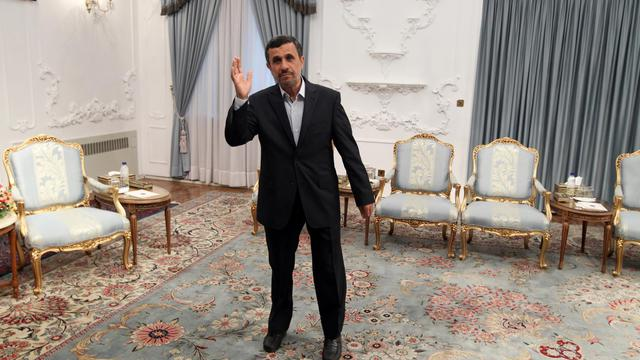 Le président iranien Mahmoud Ahmadinejad, le 4 mai 2013 à Téhéran [Atta Kenare / AFP/Archives]