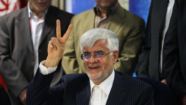 Le candidat à l'élection présidentielle Mohammad Reza Aref, le 10 mai 2013 à Téhéran [Atta Kenare / AFP/Archives]